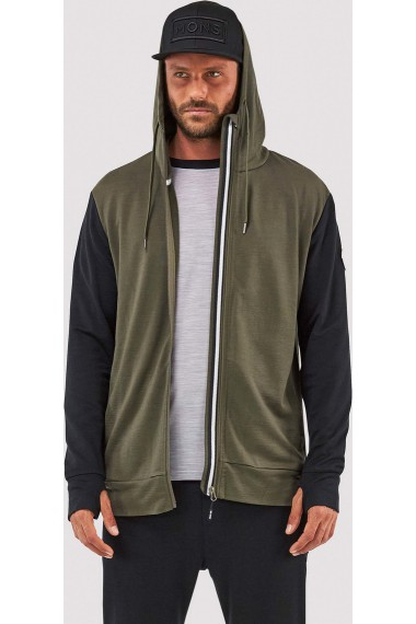 Covert Mid-Hit Hoody (H) Olive Black