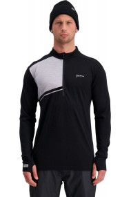 Alta Tech Half Zip (H) Black Grey Marl
