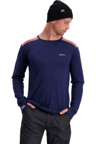 Alta Tech LS Crew (H) Navy Grey Marl