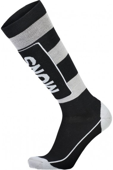Mons Royale Mons Tech Cushion Sock (H) Black Grey