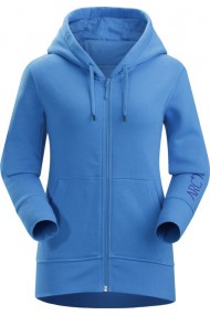Word On End Full Zip Hoody (D) Antilles Blue