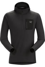 Rho LT Hooded Zip (H) Black